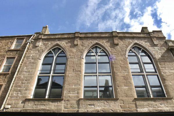Castle Hill Apartments exterior windows