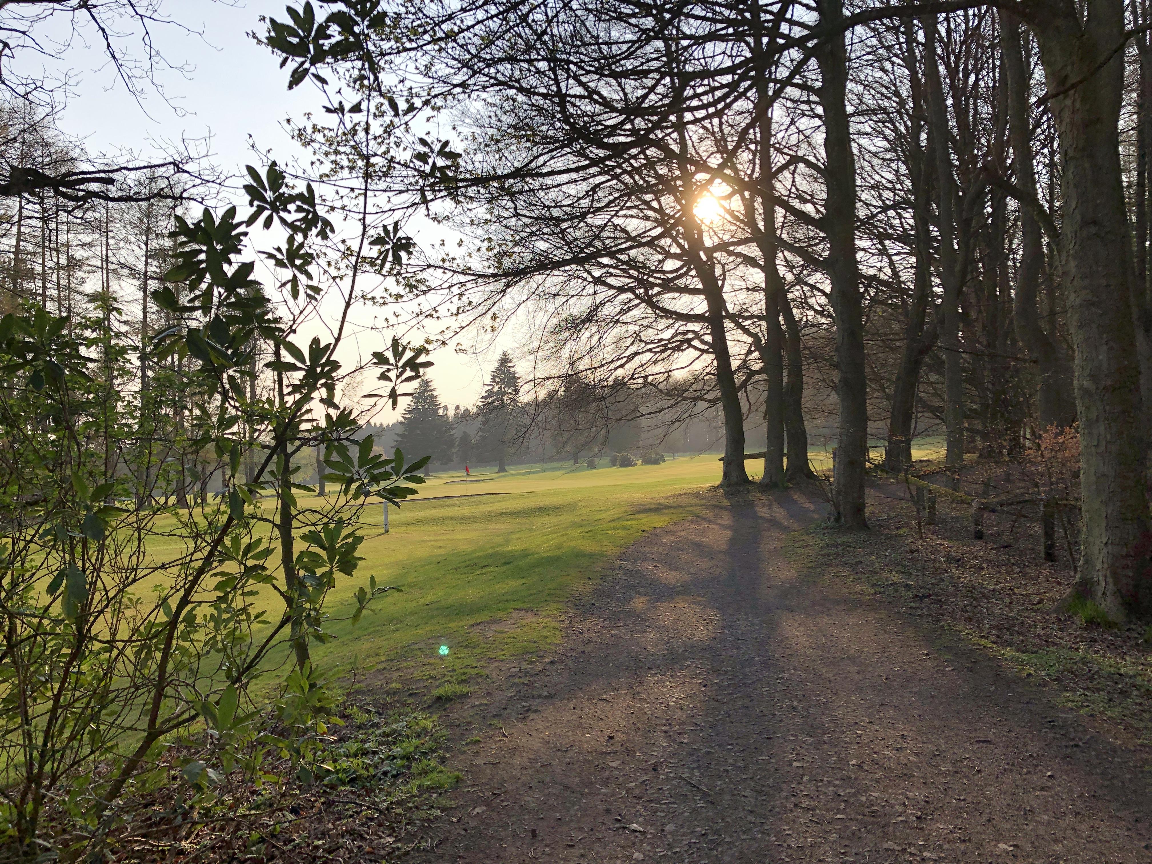 Camperdown Park Dundee during dusk